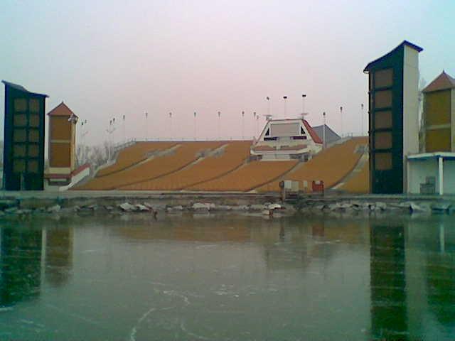 Die Mörbischer Seebühne im Winter