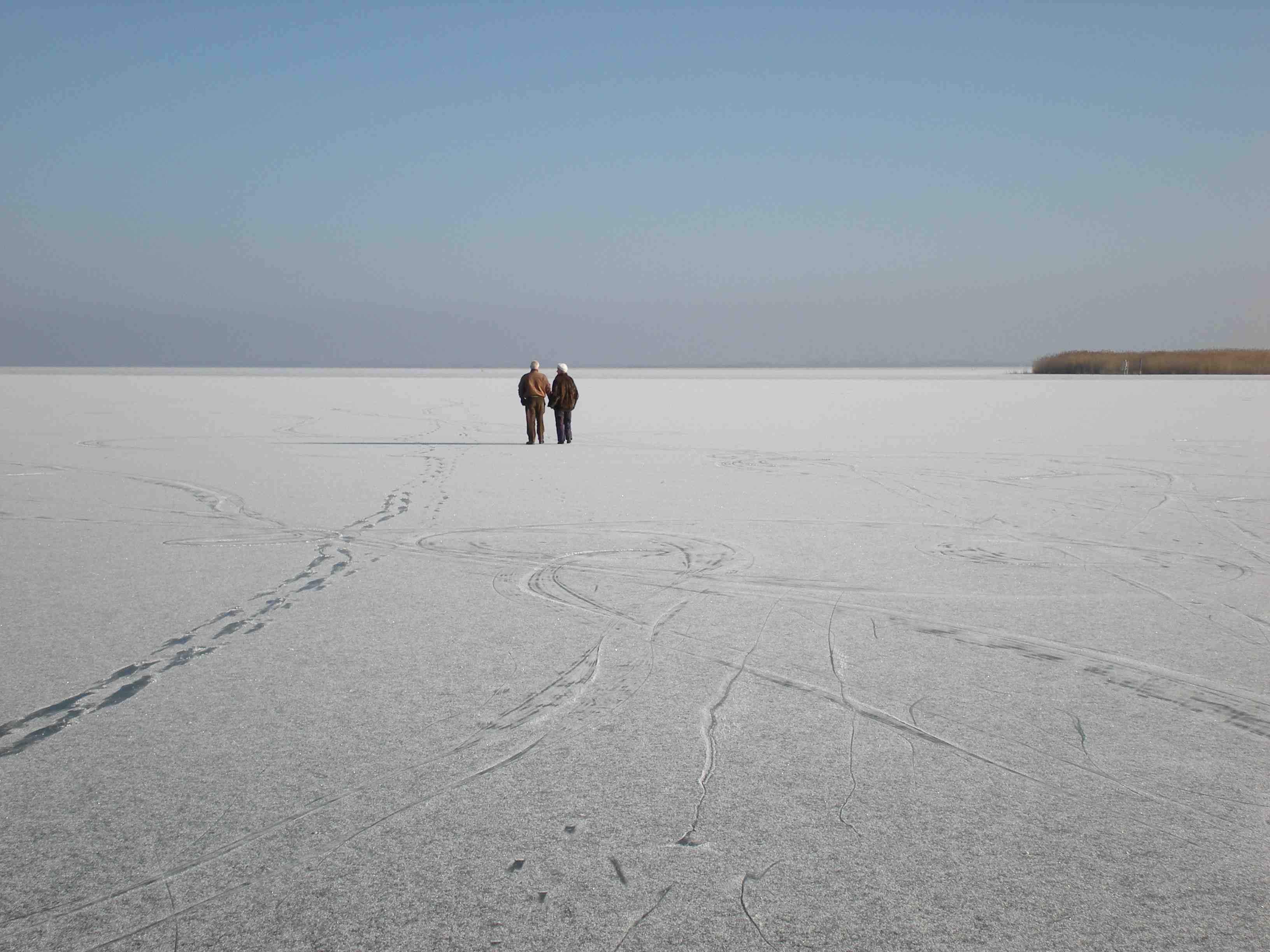 Eisstimmung an Neusiedlersee